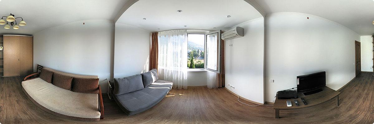 360° панорама «Квартира с евроремонтом в Форосе»