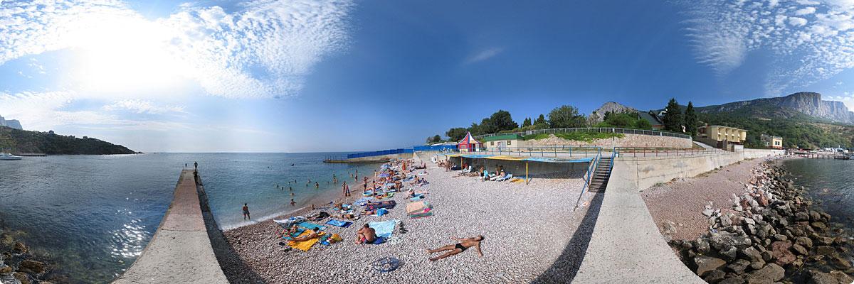 360° панорама «Розовый пляж»
